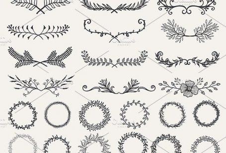 Hand drawn elements bundle by Bimbim on Creative Market