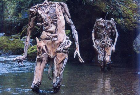 Haunting Driftwood Sculptures By Japanese Artist Nagato Iwasaki