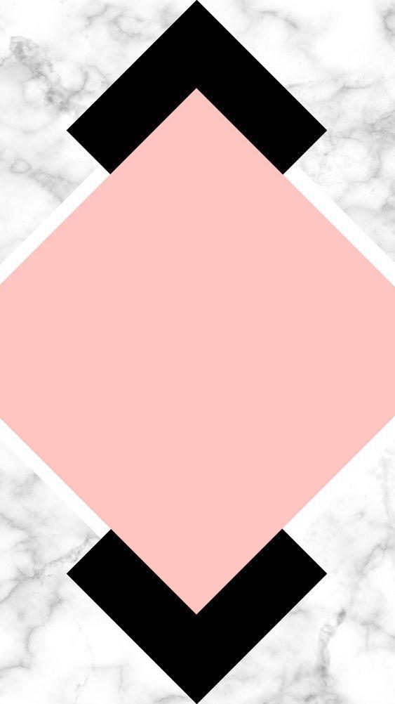 Wallpaper | Papel de parede para celular - Backgrounds, Rose, Black, Mármore, Marble. #wallpaper #background #papeldeparede #mármore