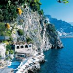 On the coast at Hotel Santa Caterina in Amalfi.