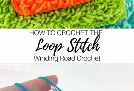 The loop stitch is a beautiful stitch that makes loops while you crochet. Use this video and photo tutorial to learn how to make this stitch. #crochetstitch #crochettutorial #crochetvideo