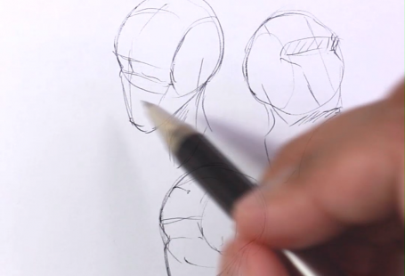 Learn how to draw the human head using this step by step process made for beginners. Grab the free worksheets on the website and learn how to draw the head from any angle by developing a deep understanding of the structure. Drawing human anatomy is immensely satisfying and these free worksheets will help you make quick progress! #tutorial #drawing