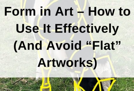 Form is a visual element that refers to the illusion of a three-dimensional object on a two-dimensional surface. If your paintings look