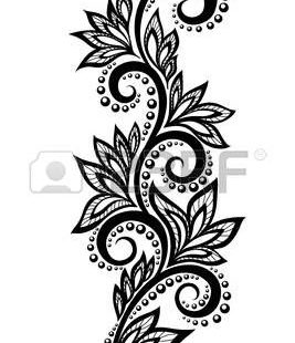 Isolated floral design element  With the effect of lace eyelets  Many similarities in the profile of the artist