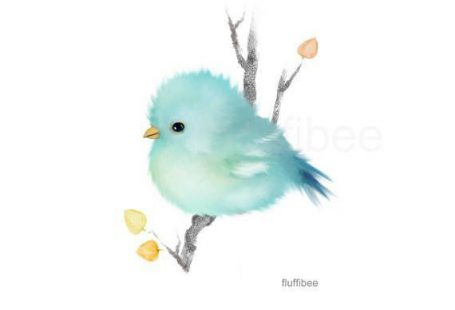 Multiple Purchase Discount: 20% off with minimum purchase of $30 or more. Use coupon code: FFB618 Baby Bluebird - Bird print Brighten up any room with this nature print from my original art, features a whimsical bird on a white background, minimalist style. Perfect for baby nursery or