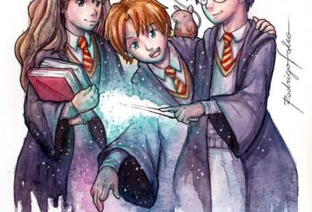 Excited to share the latest addition to my #etsy shop: Harry Potter, Hermione and Rony Fanart Watercolor Print #painting #watercolor #artwork