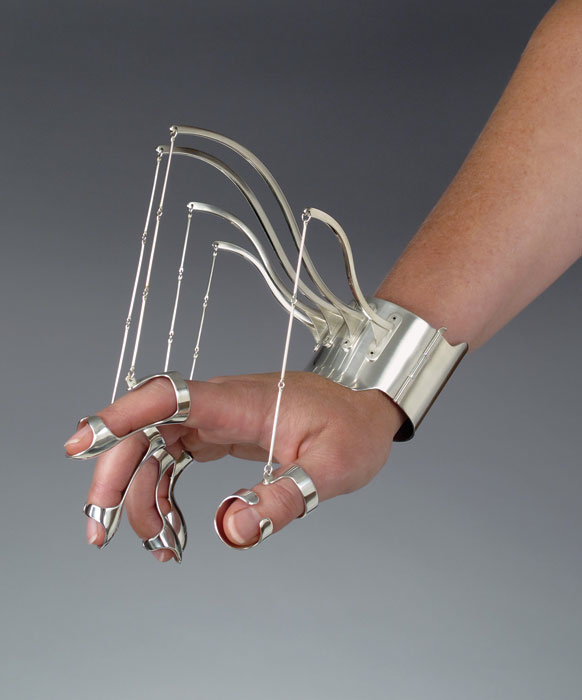 Via Fashioning Technology. A few weeks ago, I discovered the wonderful work of Jennifer Crupi while visiting the San Francisco Museum of Craft and Design. Part prosthesis, part fine jewelery, the c...