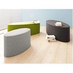 Softline Schemel Bon-Bon grün, Designer Busk & Hertzog, 33x60x30 cm SoftlineSoftline