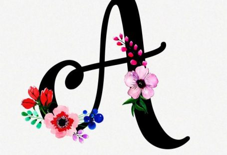 Letter A Watercolor Floral Background Free Vector ift.tt/2oQX3V2