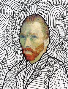 Fun with Van Gogh · Art Projects for Kids. A fun Van Gogh art project for kids is to start with his classic portrait, and then add a background. Limiting it to patterns to shows the power of lines can make, not to mention the contrast.