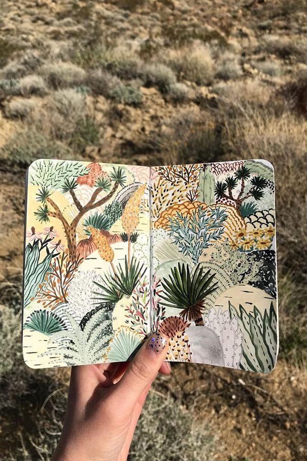 Sketchbook spread by Sara Boccaccini Meadows