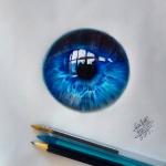 Mükemmel renkler ve gerçeğe yakın göz çizimleri #göz #çizim #sanat #ressam #renkler #sanatçı