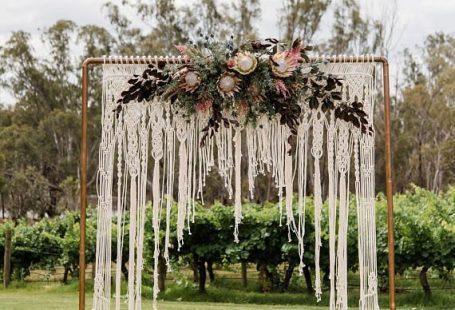 Macrame Wedding Backdrop Arbour Arch Ceremony Backdrop Boho #wedding