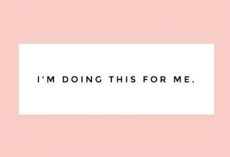 Estou fazendo isso por mim