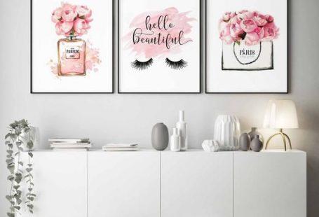 Mode-Wand-Kunst Wimpern drucken Hallo schön Mädchen