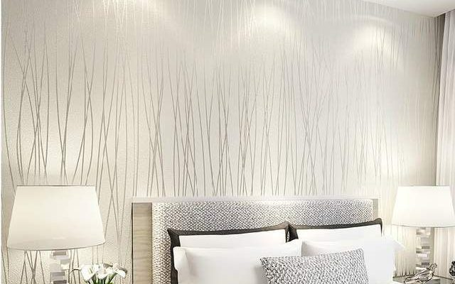 Online Shop #6194-Solid color Vertical Stripe Non Woven 3D wallpaper,High Quality modern wall paper for bedroom living room home decoration