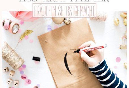 Geschenke schön verpacken: Oster-Buchstaben aus Kraftpapier // Geschenke verpacken, basteln, selbermachen, Ostern