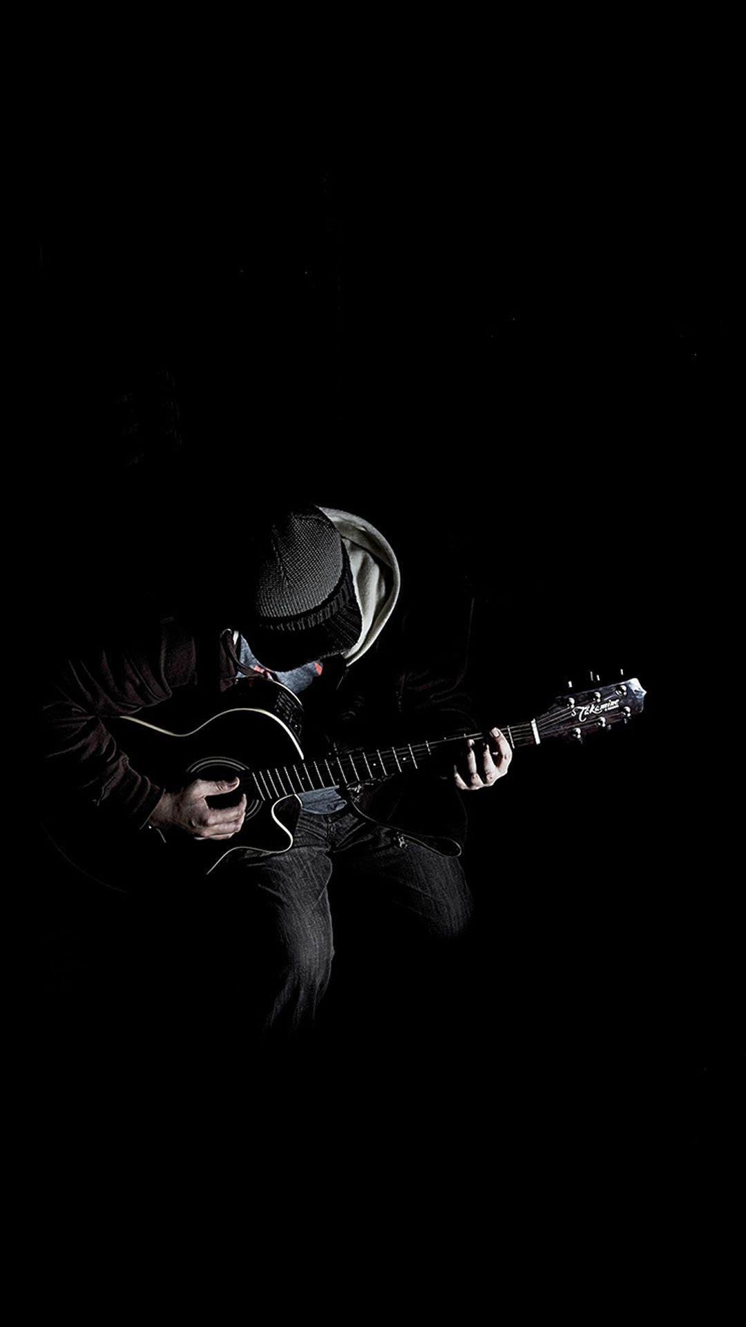 Out The Dark Guitar Player Music iPhone 6 wallpaper