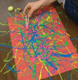 Painting activities for kids! - A girl and a glue gun