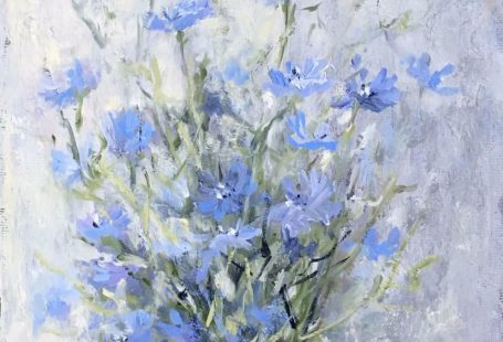#videos #homedecor #oilpainting #painting #картина#живопись#мк#цикорий#искусство#мастеркласс#видео#paint#flowers