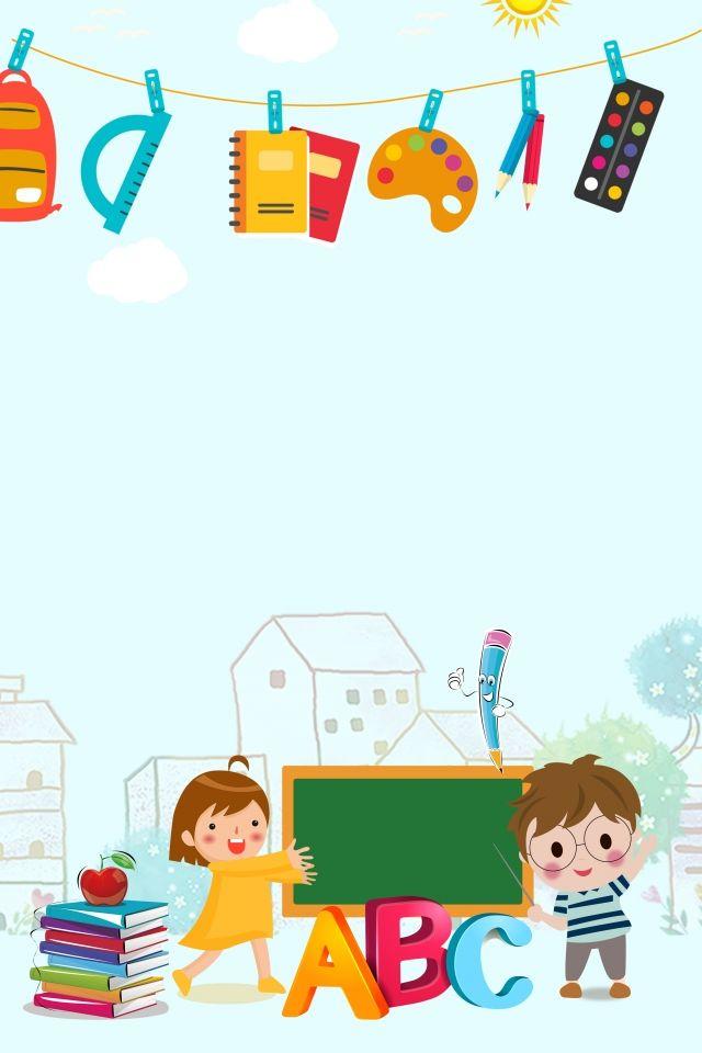 Papelería azul inscripción en el jardín de infantes educación educación fondo Azul Papeleria Jardín de infancia Matriculación Entrenamiento Antecedentes