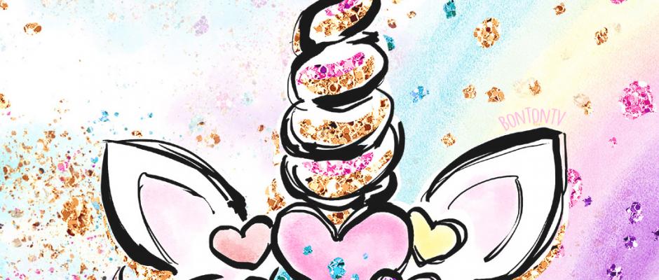 Phone Wallpapers HD Cute Unicorn Glitter Art - by BonTon TV - Free Backgrounds 1080x1920 wallpapers #wallpaper #pozadine #bontontv