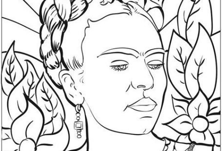Free #FridaKahlo Printable Download: Celebrate Mexican artist Frida Kahlo with this fun #coloring activity for #kids #frida