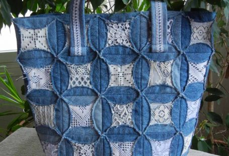 Quilted pouch and bag + Cathedral window quilt bag (Ulla