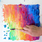 Click through to check out out my FAQs sheet all about colorful, easy and fun abstract acrylic paintings that you can do at home!