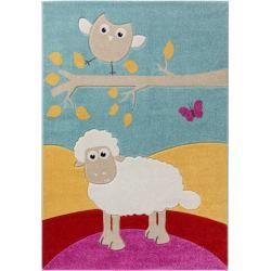 benuta Kids Kinderteppich Eule und Schaf Multicolor 200x290 cm - Teppich für Kinderzimmerbenut...