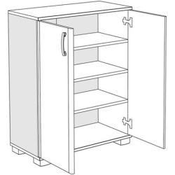Kommode Tudela 11, Farbe: Kirsche - 95 x 75 x 37 cm (H x B x T) Easy MöbelEasy Möbel