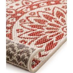 benuta Plus Wendeteppich Terrazzo Beige/Rot 120x180 cm - Moderner Teppich für Wohnzimmerbenuta.de