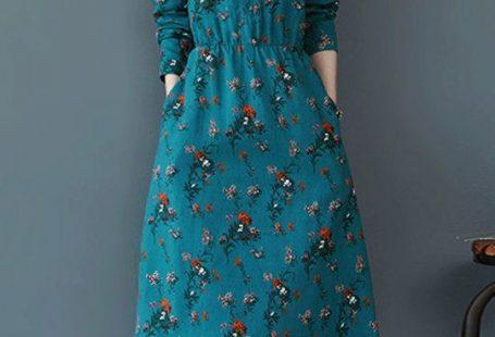 Round Neck Patch Pocket Floral Printed Shift Dress #dresses #shiftdress #floraldress #afflink #fashion