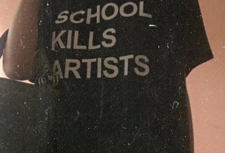School Kills Artists T-Shirt / Unisex Tee / Black Forest