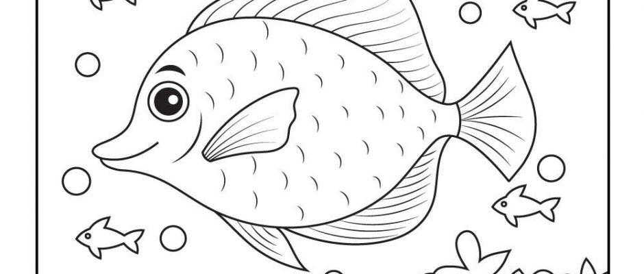 School of Fish Hidden Picture Printable
