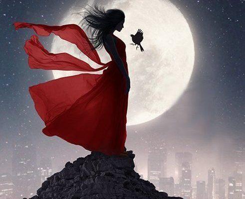 Scorpio Moon Sign Emotions ….Checkout this beautiful fantasy art by this amazing artist. #stars #moon #luna #goddess #Night