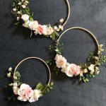 Set of 3 floral hoops Wreath Floral backdrop prop garden image 0