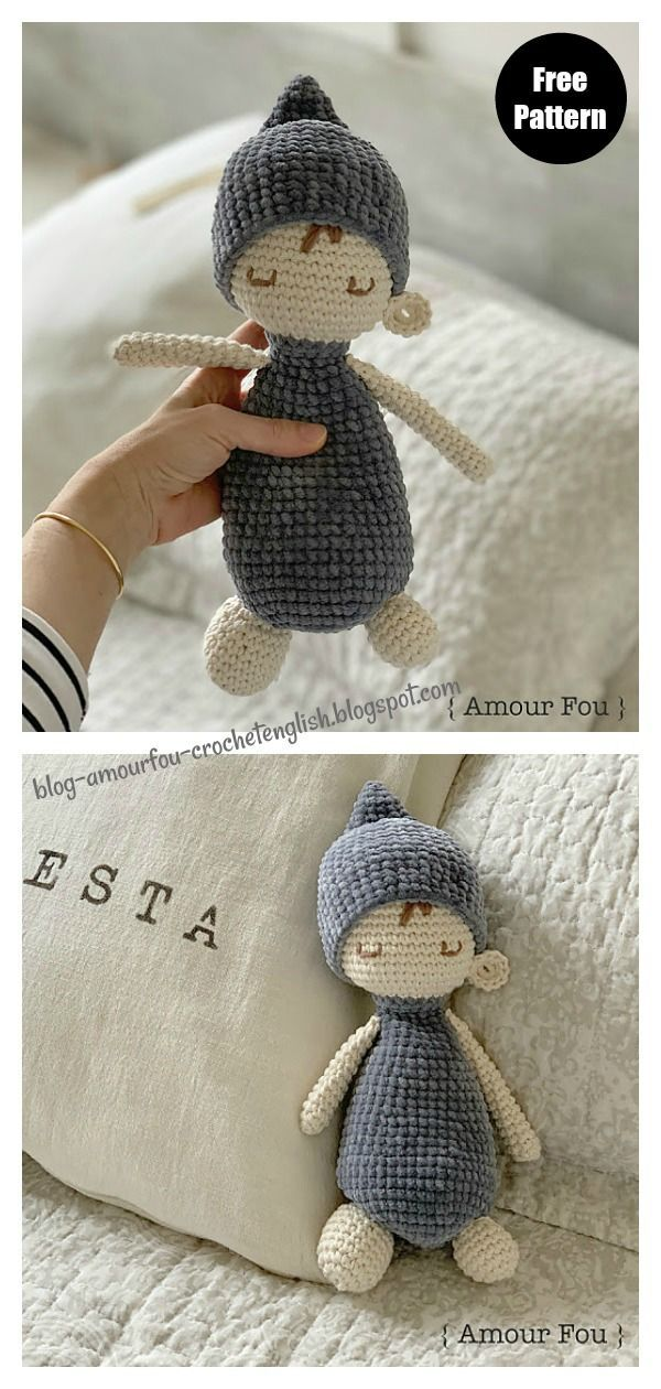 Sleepy Doll Amigurumi Free Crochet Pattern and Video Tutorial ... | 1260x600
