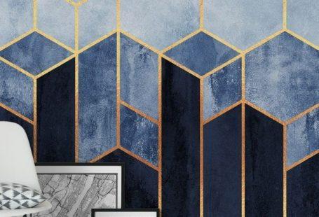Soft Blue Hexagons wall mural from happywall #geometric #wallmurals #wallpaper #hexagonal #gradient