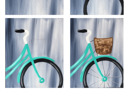 Spring Bicycle Painting - Step By Step Painting