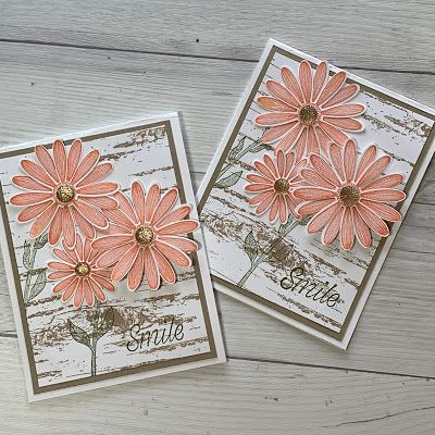 Stampin' Up! Daisy Lane Stamp Set with Birch Background Stamp