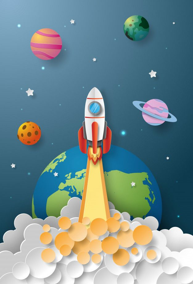 Start-up business concept, rocket launching to the space. Download thousands of free vectors on Freepik, the finder with more than 4 millions free graphic resources
