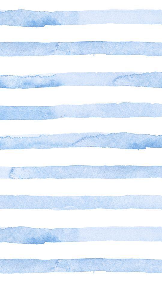 Blue Watercolor Stripes Phone Wallpaper Seersucker Summer Blue