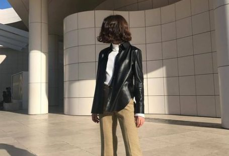 A sleek leather jacket is another great layering piece during transitional times of the season. The 7-Piece French-Girl Fall Capsule Wardrobe