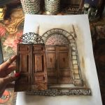 italy door drawing By Gül ipek   #italy #old #doors #paper #gulipeksanat
