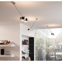 Top Light Puk Maxx Wing Twin Deckenleuchte nickelmatt 40cm Standard-Fassung Top LightTop Light