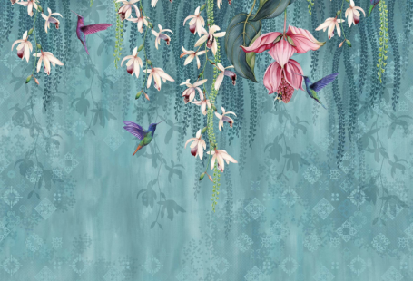 Trailing Orchid Wallpaper - Urban American Dry Goods Co.
