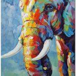Cliquez sur l'outil «zoom» sur les 5 photos pour voir l'image en gros plan supersized. C'est une vraie main peint peinture à l'huile. Certificat d'authenticité sera inclus dans l'achat de ce tableau. Le certificat est signé par l'artiste. Titre: éléphant Type: Peint à la main