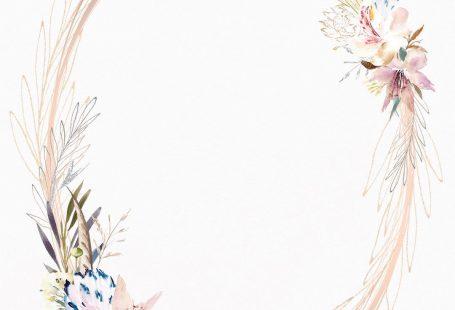 Whimsical Wreath - Wedding Invitation Template (free)
