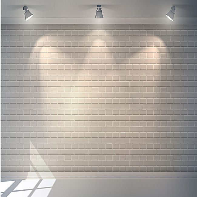 White brick wall background lighting, White, Brick Wall, Light Background, Background image
